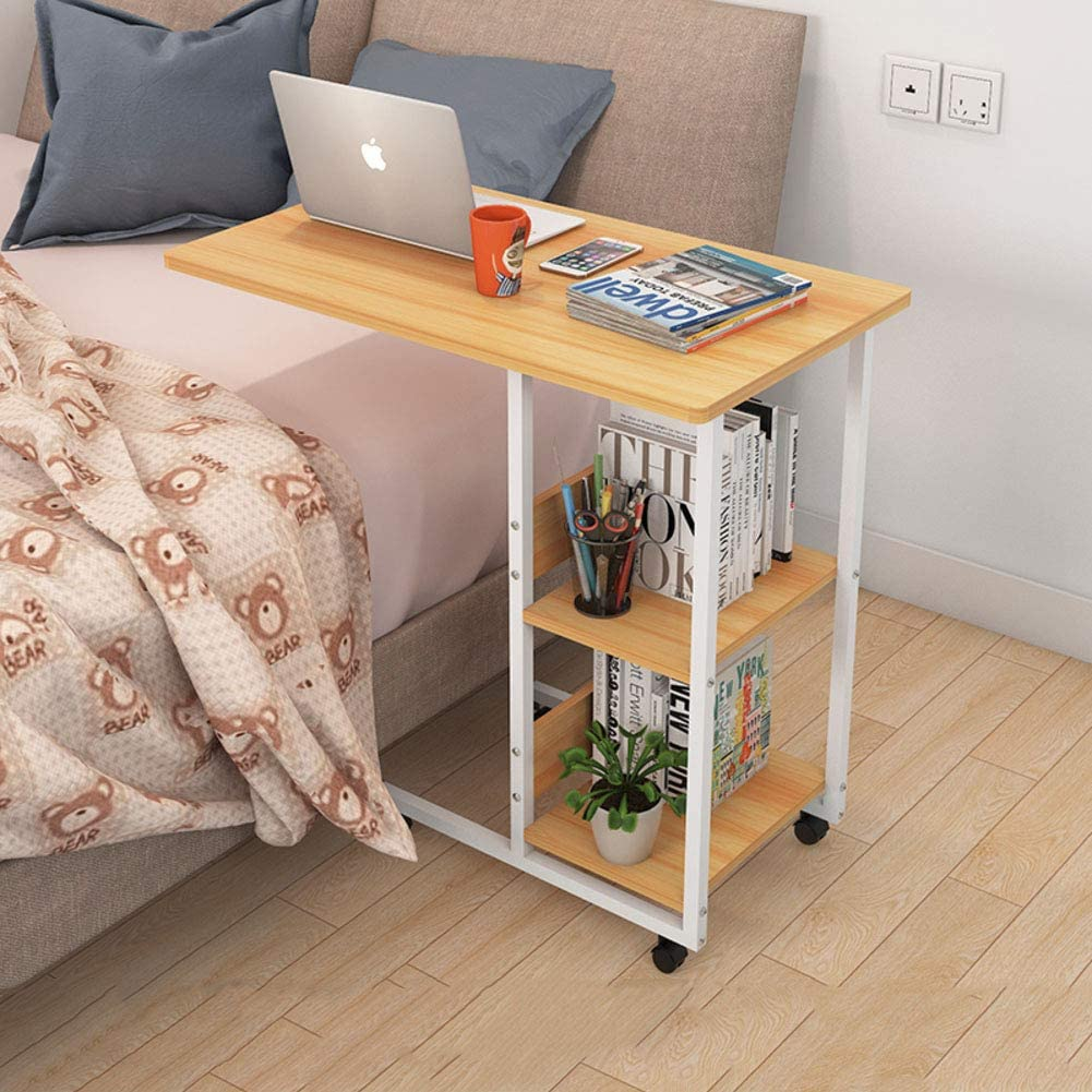 Size : 27.6x15.7x37in RKRGQ Days Overbed Table Adjustable Portable Lazy Table Desk Stand Rolling Tray Sofa Bed Stand for Laptop Computer Notebook Mobile Laptop Desk