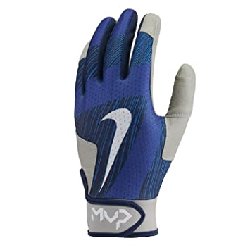 Nike Men's MVP Edge Baseball Softball Batting Glove (401 Game Royal, L) (