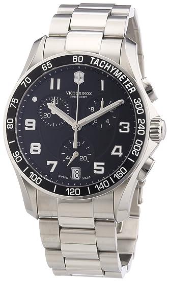 Victorinox Swiss Army - Reloj analógico de cuarzo para hombre con correa de acero inoxidable, color plateado: Victorinox Swiss Army: Amazon.es: Relojes
