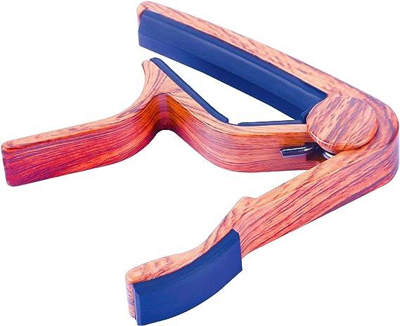ac/ústica color madera el/éctrica y bajo LongJoy Capo con traje de acabado en madera Ukelele