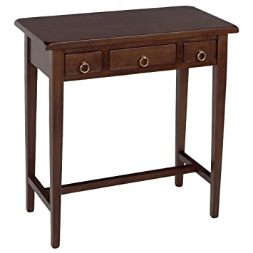 Winsome Wood Hall Table With 3 Drawers, Walnut