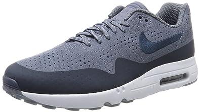 new styles 1fd0e fd57a Nike Air Max 1 Ultra 2.0 Moire, Chaussures de Running Homme, Gris (Bleu
