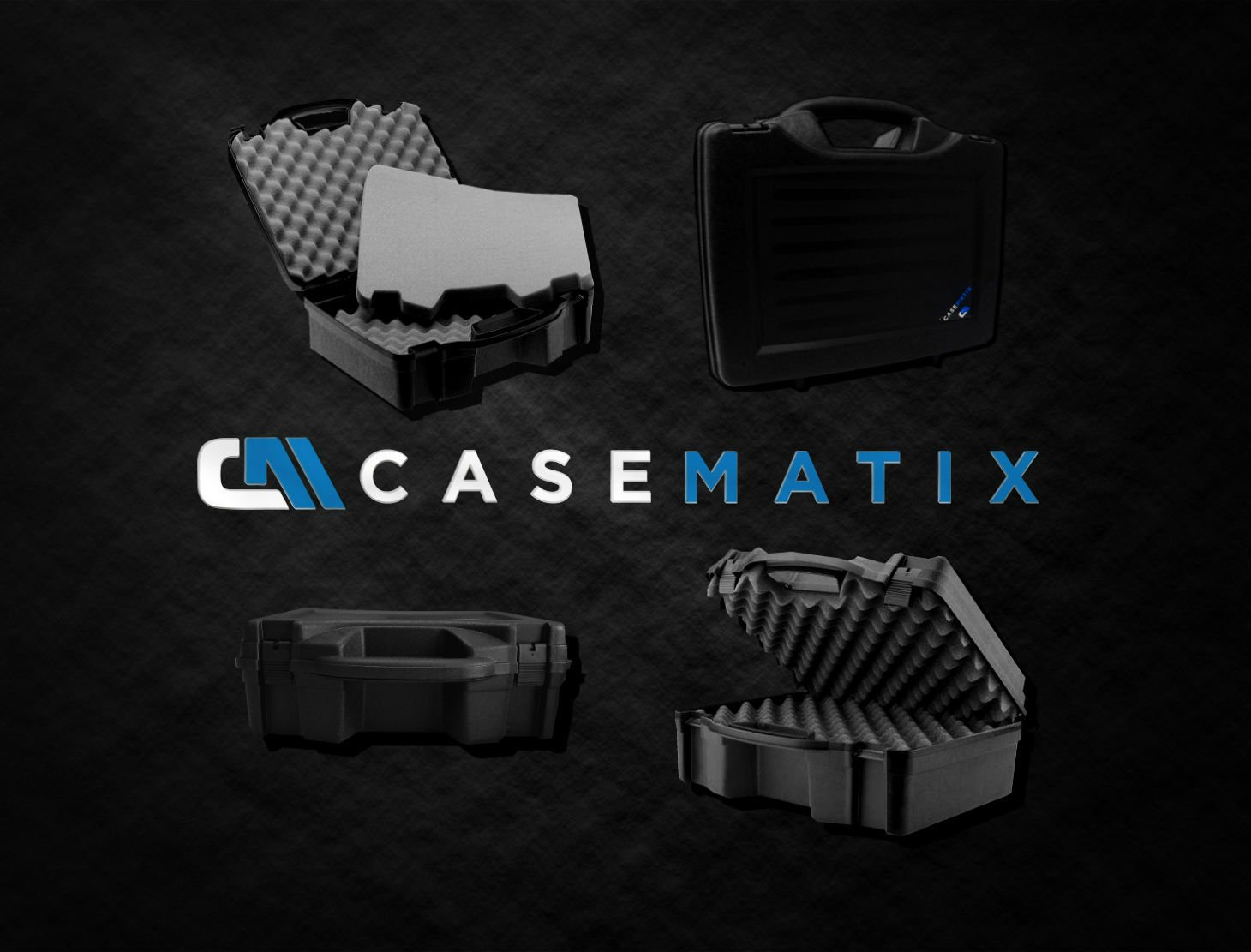 STUDIOCASE Wireless Microphone System Hard Case w/ Foam - Fits Sennheiser , Shure , Audio-Technica , Nady , VocoPro , AKG With Receiver , Body Transmitter , UHF Headset , Lavalier and Handheld Mics by CASEMATIX (Image #2)