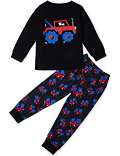 Funnycokid Halloween Boys Girls Pajamas Set Kids Cotton Sleepwear 2 Piece PJs 2-9T