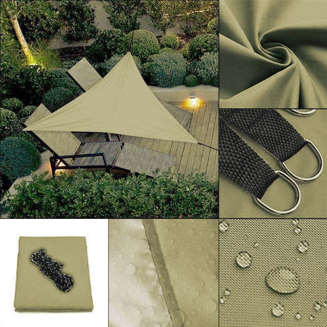 villeur Portable Triangle Shape UV Protection Outdoor Sunscreen Awning Canopy Shade Sails
