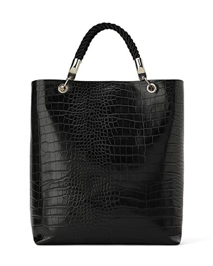 d9ec7f16af Zara Women's Tote bag with braided handle 1410/004: Amazon.co.uk ...