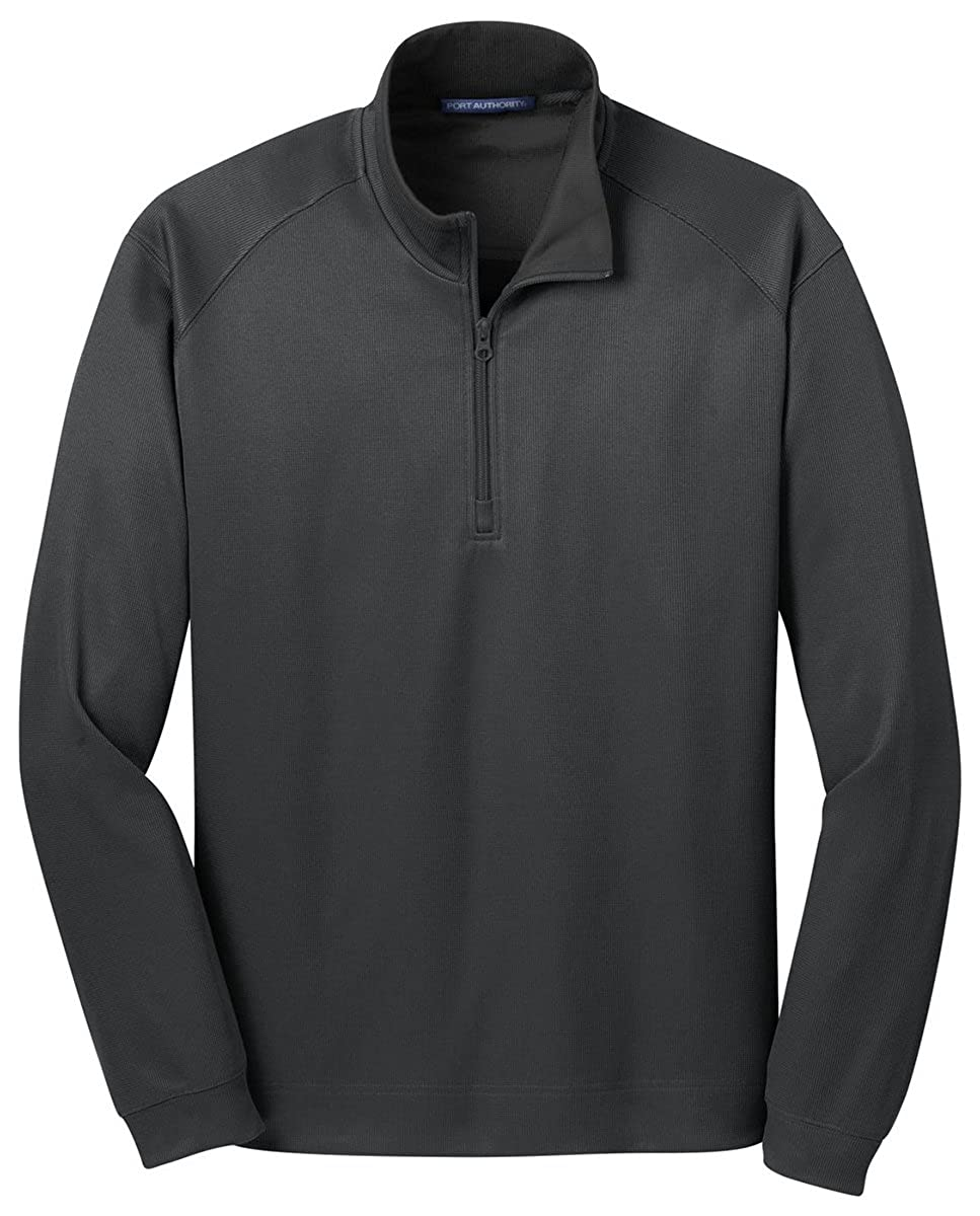Port Authority Mens Heavyweight 1//4-Zip Pullover/_Iron Gry//Black/_XXX-Large