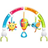 Benbat Dazzle Friends Stroller Play Arch Rainbow Toy - Fun Toys For Baby- Stroller Toys - Top Baby Toys - Tactile Sensory Toy