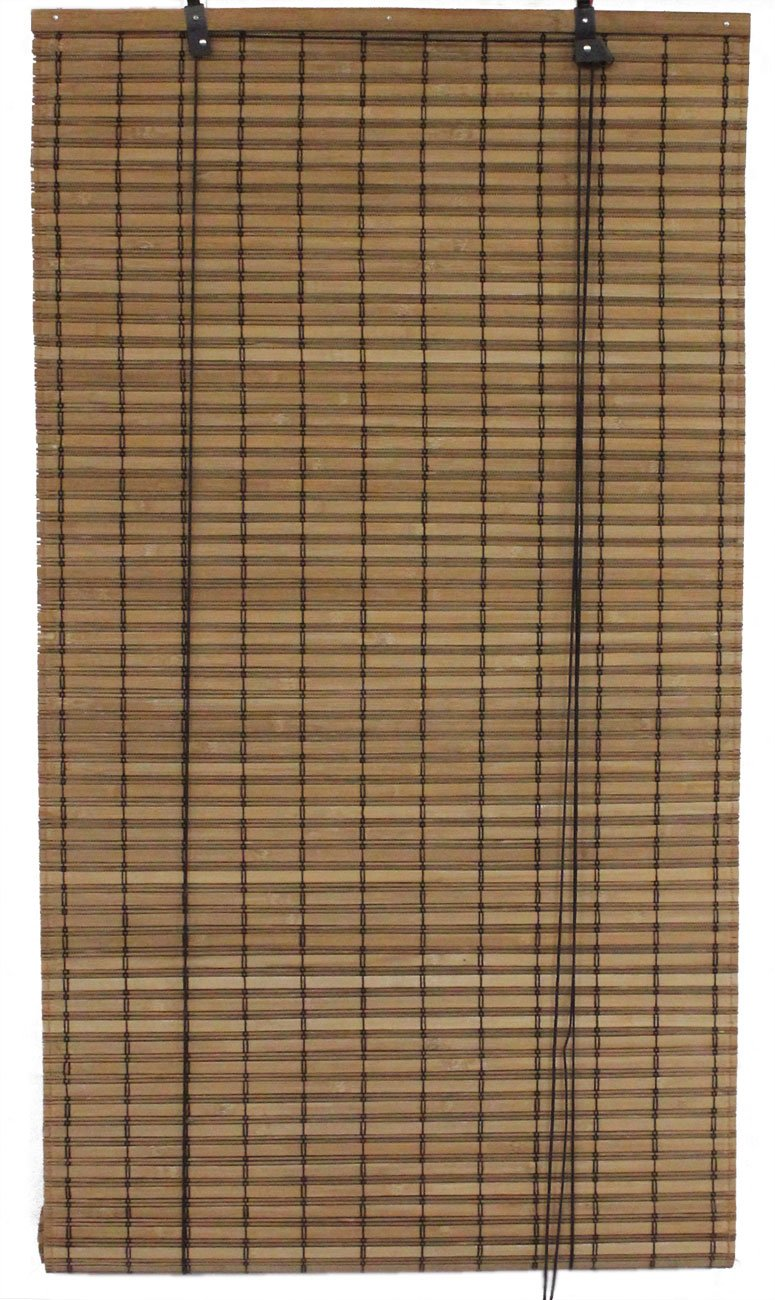 Brown Bamboo Slat Roll Up Blind (24x72 Inch) Seta Direct BB806