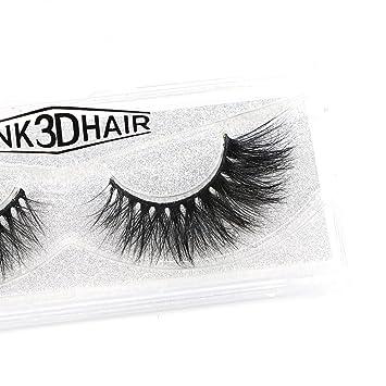 499d1be6929 Amazon.com : Dramatic Look 3D Mink False Eyelashes Premium Quality Handmade  Long Thick Strip Lashes Women Makeup Crossed Style Fake Eyelash 1 Pair  (3D031) : ...