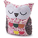 Intelex Microwaveable Warmer Cuddly Toy - Hooty Owl - Pink Floral