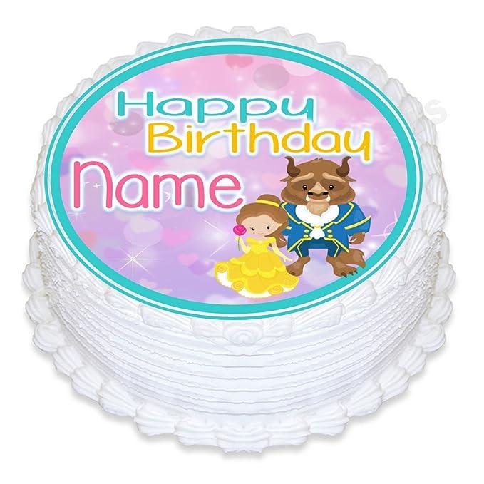 Decoración redonda para tarta personalizable de cumpleaños ...