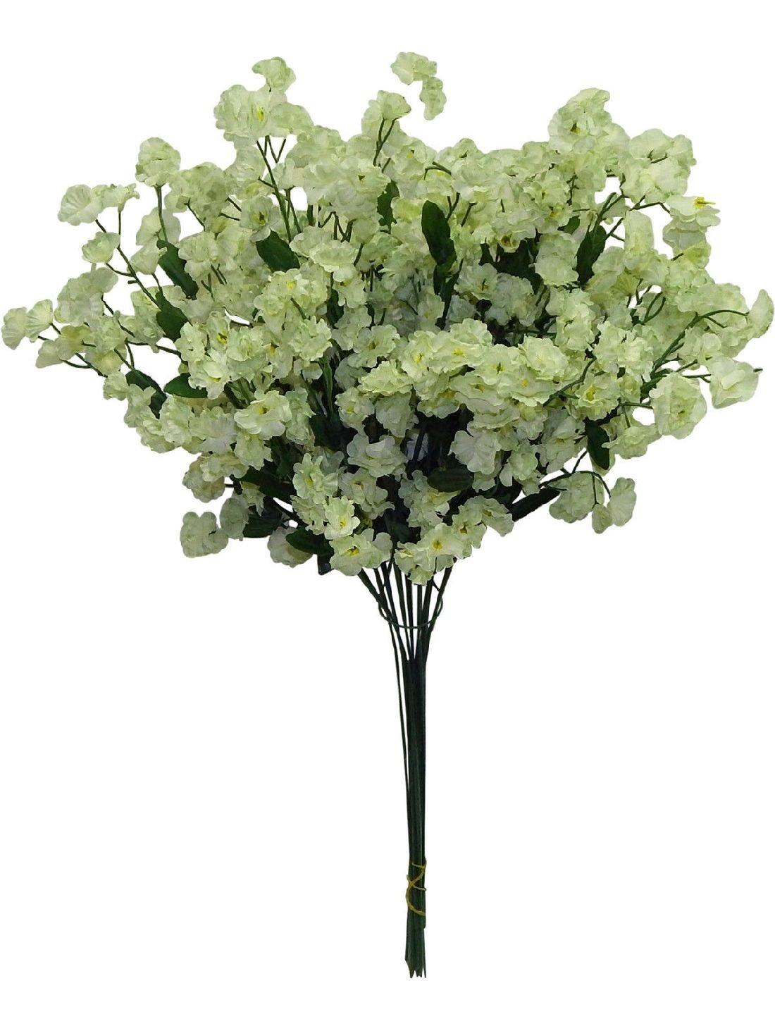 12-Babys-Breath-LIGHT-GREEN-SAGE-Gypsophila-Silk-Wedding-Flowers-Centerpieces