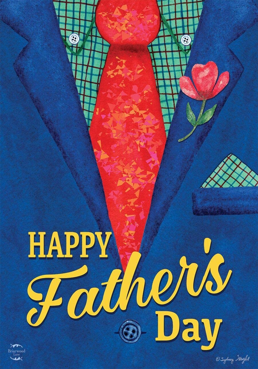 """Briarwood Lane Father's Day Suit Garden Flag Holiday Dads Tie 12.5"""" x 18"""""""