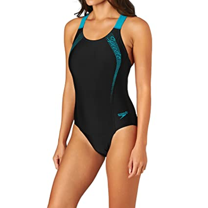 Speedo Womens Sports Logo Medalist Swimsuit One Piece Suits