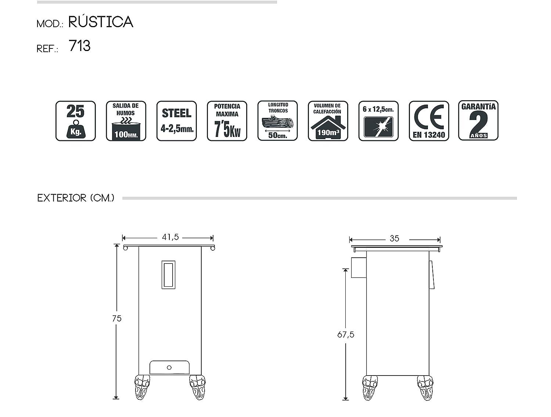 JUAN PANADERO 123713 Rustica Eco Plus, Gris Antracita
