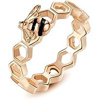EVBEA Bee Bracelet Women Rose Gold Ladies Adjustable Bangle Sterling Silver Jewellery