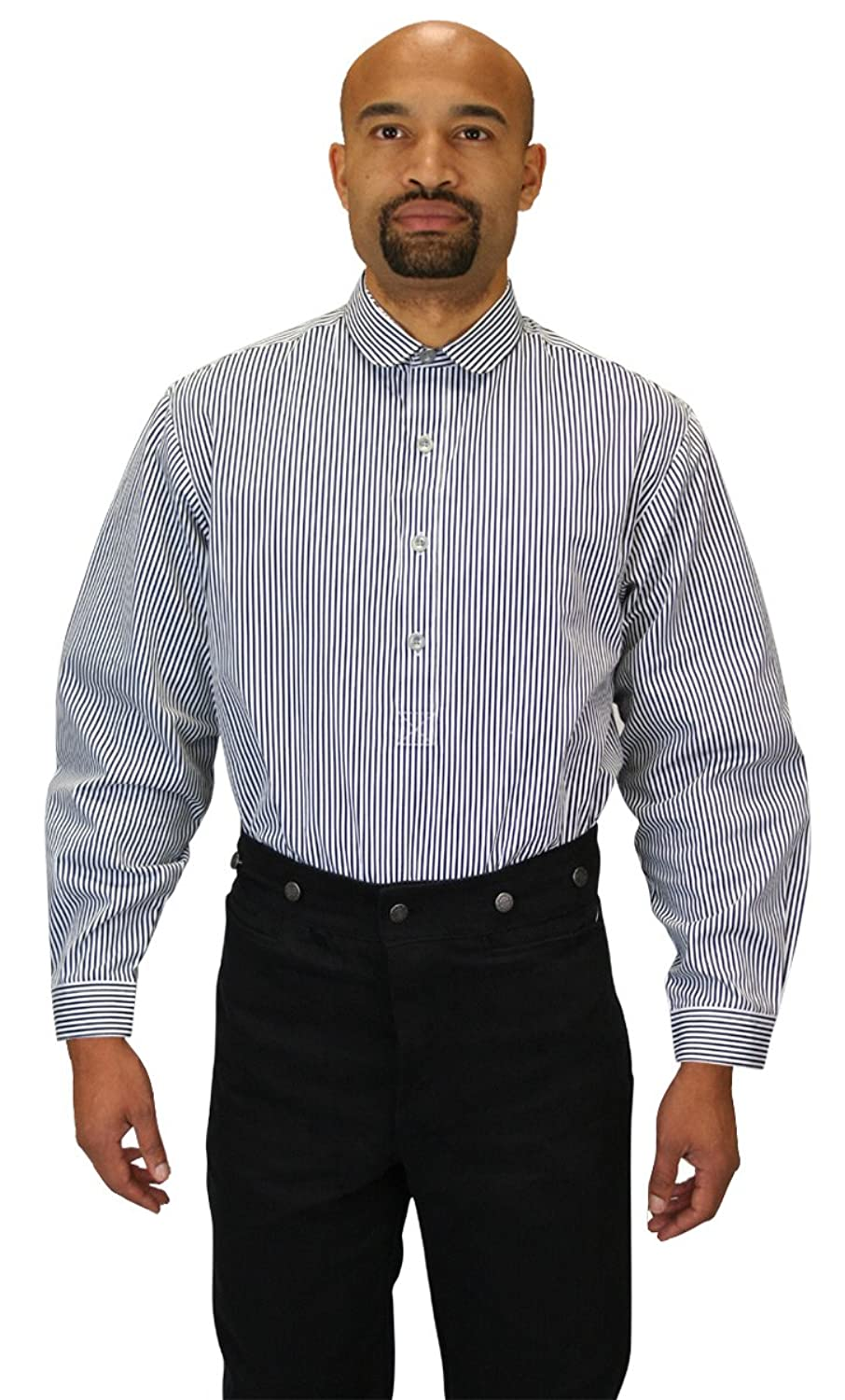 1920s Men's Dress Shirts Coulter Edwardian Club Collar Dress Shirt $59.95 AT vintagedancer.com