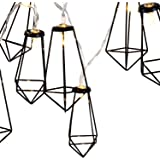 Lewondr String Lights Geometric Black Diamond LED Metal Fairy Lights 3m/9.8ft 20 LED USB & Battery Powered Twinkle…