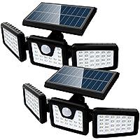 2 Pack Solar Lights 70 LED IP65 Waterproof Outdoor Deals