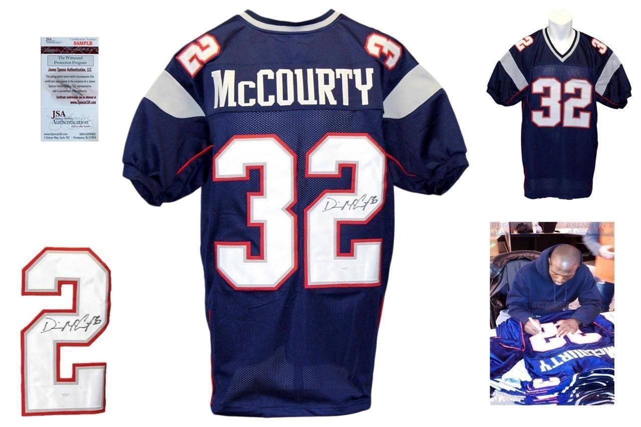 Devin McCourty Signed Jersey - Navy Witness w Photo - JSA Certified - Autographed NFL Jerseys Brennans Sports