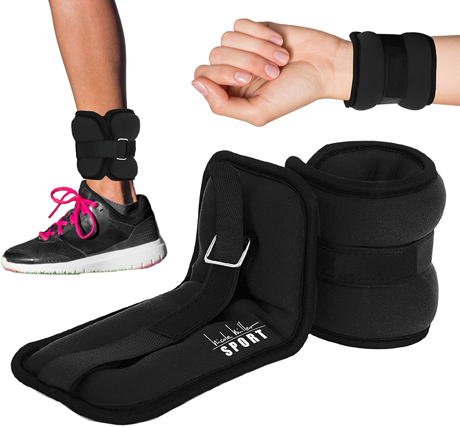 Ankle Weights Resistance Strength Training Exercise Wrist Straps Cardio Workout