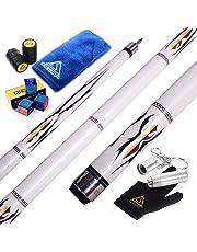 """CUESOUL 58"""" 2 Piece Maple Billiard Pool Cue Sticks-19oz U102"""