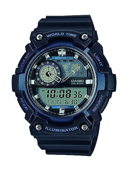 Casio Reloj Analógico-Digital para Hombre de Cuarzo con Correa en Resina AEQ-200W-2AVEF: Amazon.es: Relojes