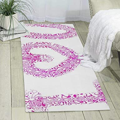 Amazon Com Workout Mat For Yoga Love U Print Area Rug Runner Rug