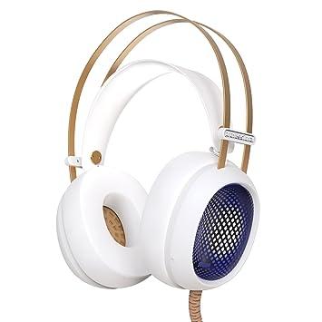 Bovon Auriculares Gaming Sonido Envolvente Estéreo Cascos Juegos con Micrófono Gaming Headset Cancelación de Ruido Profesional
