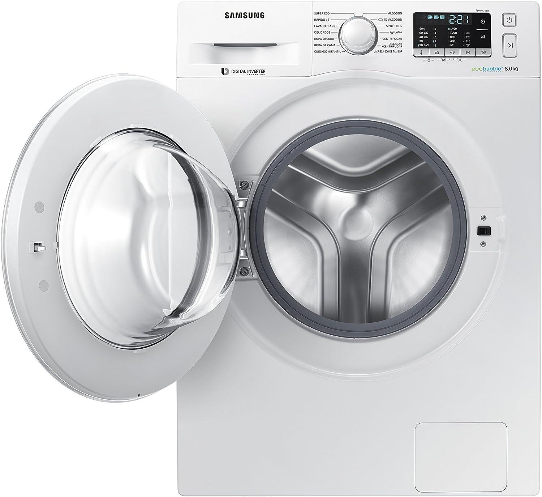 Samsung - Lavadora de carga frontal EcoBubble WW80J5455DW - Blanco ...
