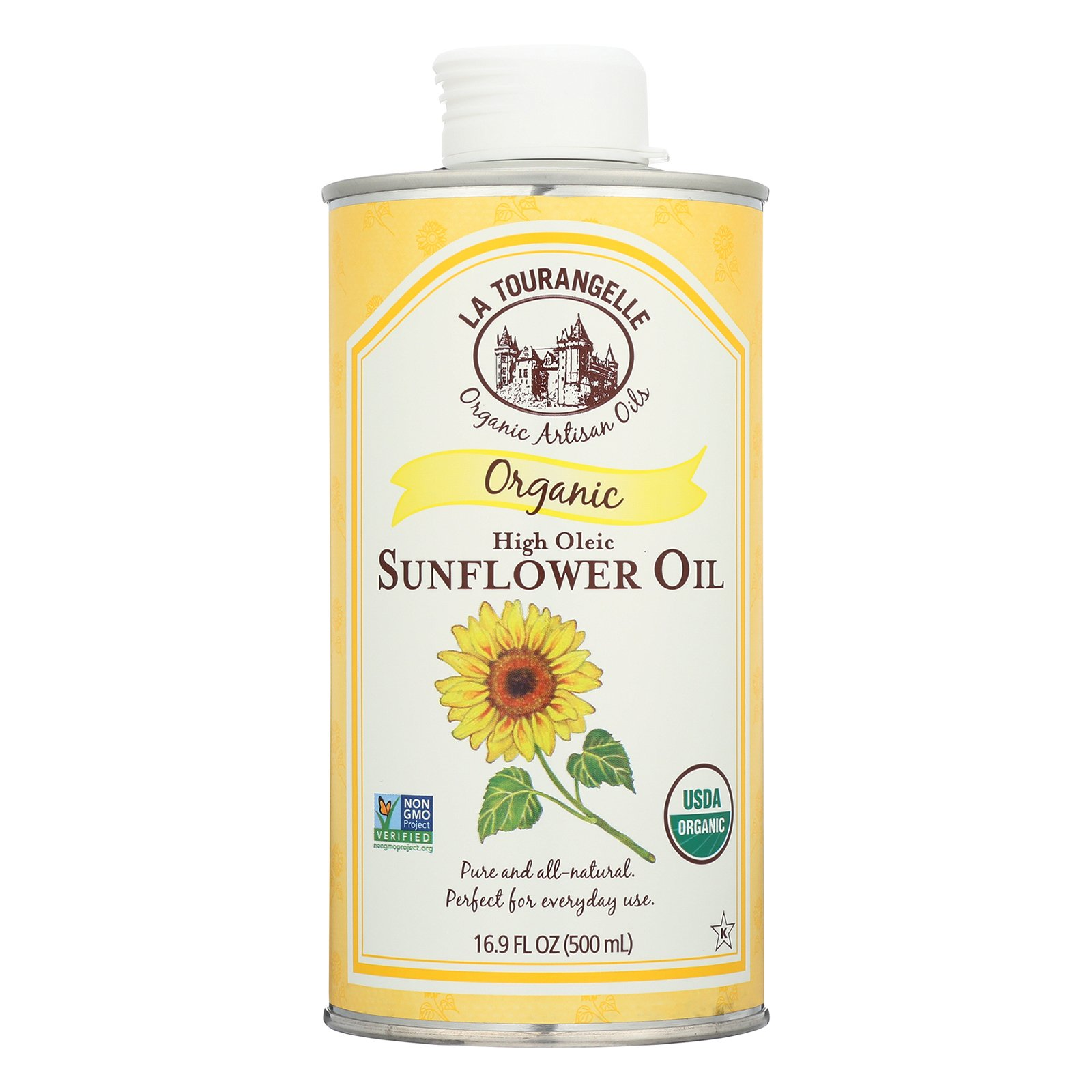 La Tourangelle Sunflower Oil - Case of 6 - 16.9 Fl oz.