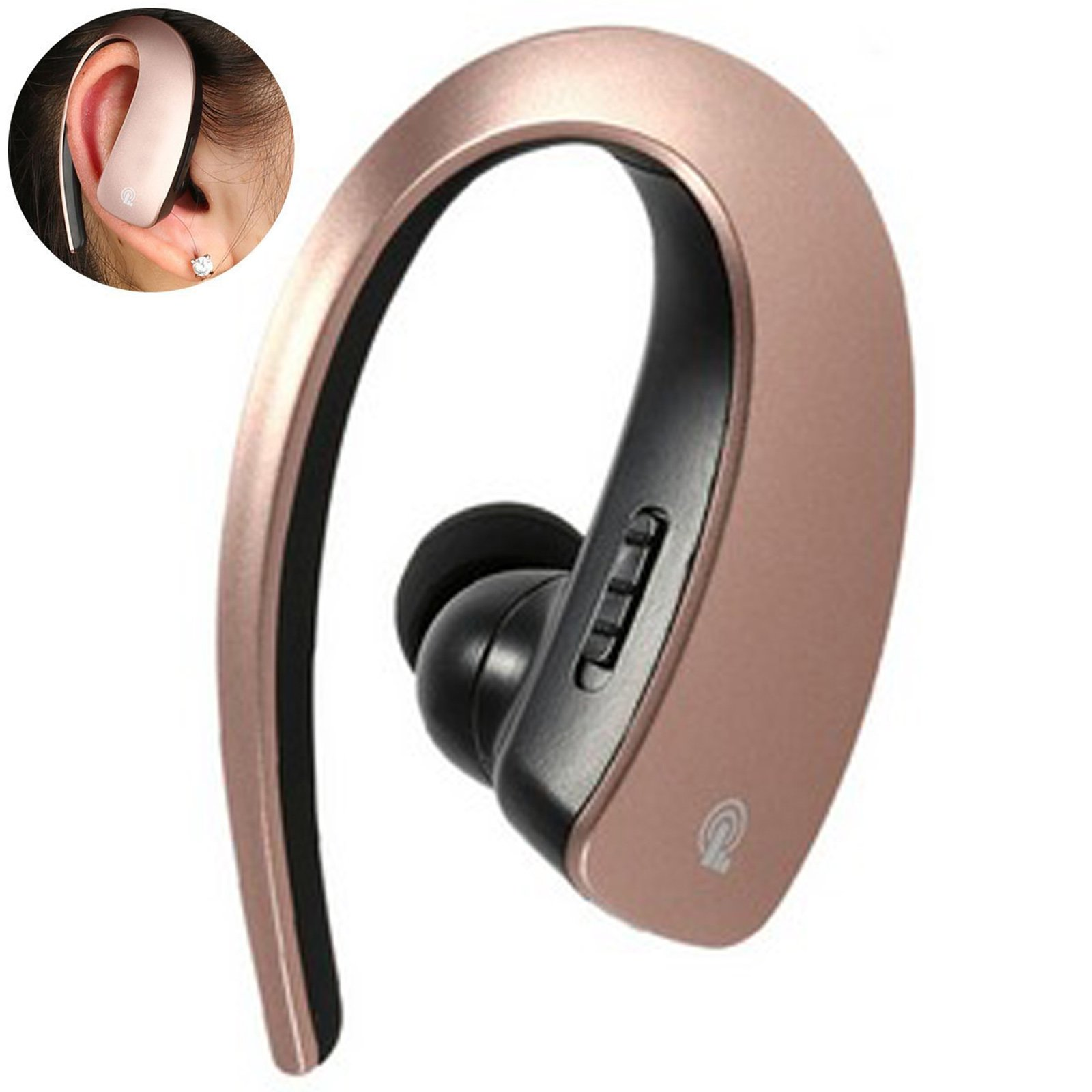 Bluetooth Headset Stereo Music Bluetooth Earphone Wireless Headphone Voice Command with Microphone for Android IOS iPhone 7 6 Plus 5S LG Samsung S8 Plus S7 S6 S5 Tablets and Other Bluetooth Devices