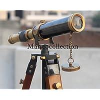 clásico latón Telescopio con trípode de madera hecho a mano náutico Spyglass/Scope regalo