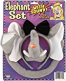 Forum Novelties Animal Costume Set Elephant Ears Nose Tail with Sound Effects