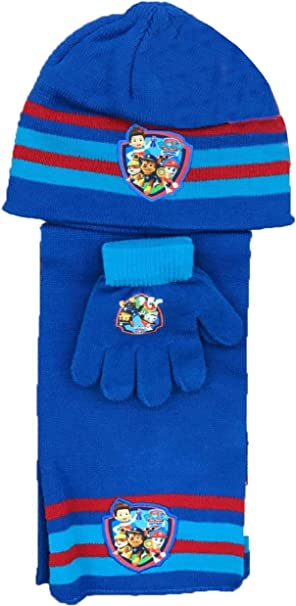 Boys Girls Nickelodeon Official Licensed Paw Patrol Gloves Beanie Hat /& Scarf Set One size 4-10 Years