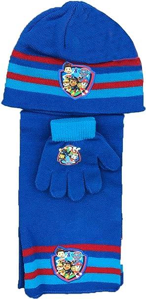 Hat /& Glove Set One size Pat Patrouille Boys Scarf