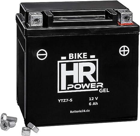 Gel Motorrad Batterie Starterbatterie 12v 6ah Ytz7 S Wartungsfrei Auto