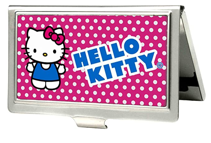 Amazon buckle down business card holder hello kitty micro buckle down business card holder hello kitty micro dots pinkwhite large reheart Choice Image