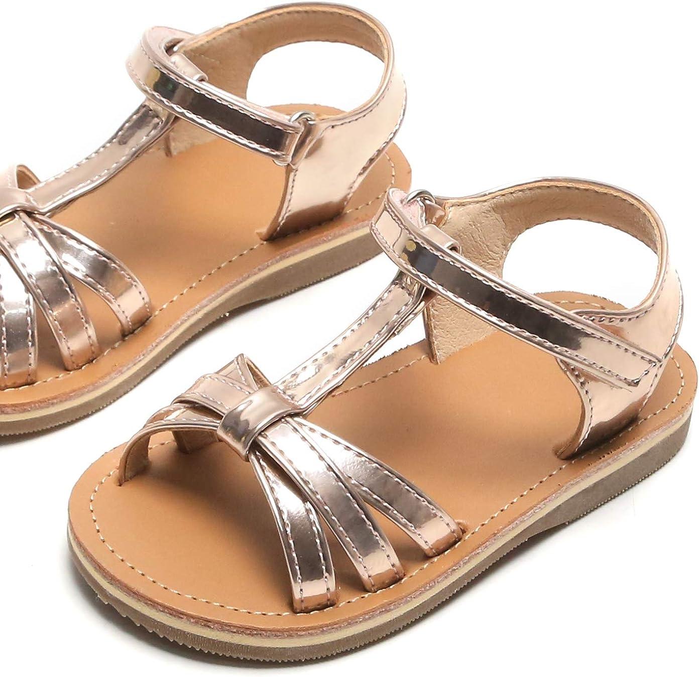 Toddler//Little Kid Kiderence Toddler Girls Sandals Princess Flats Sandals Pink
