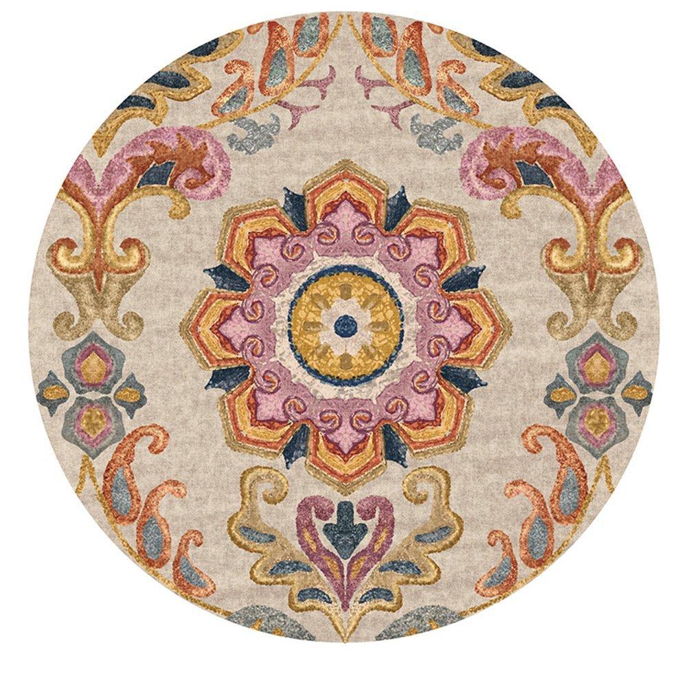 Böhmische Mandala Runde Teppiche Indien Stil Matte Teppich Für Wohnzimmer Schlafzimmer Home Decor Anti-Rutsch-Kind Teppich Baby Krabbeln Decke, Rutschfeste,160Cm