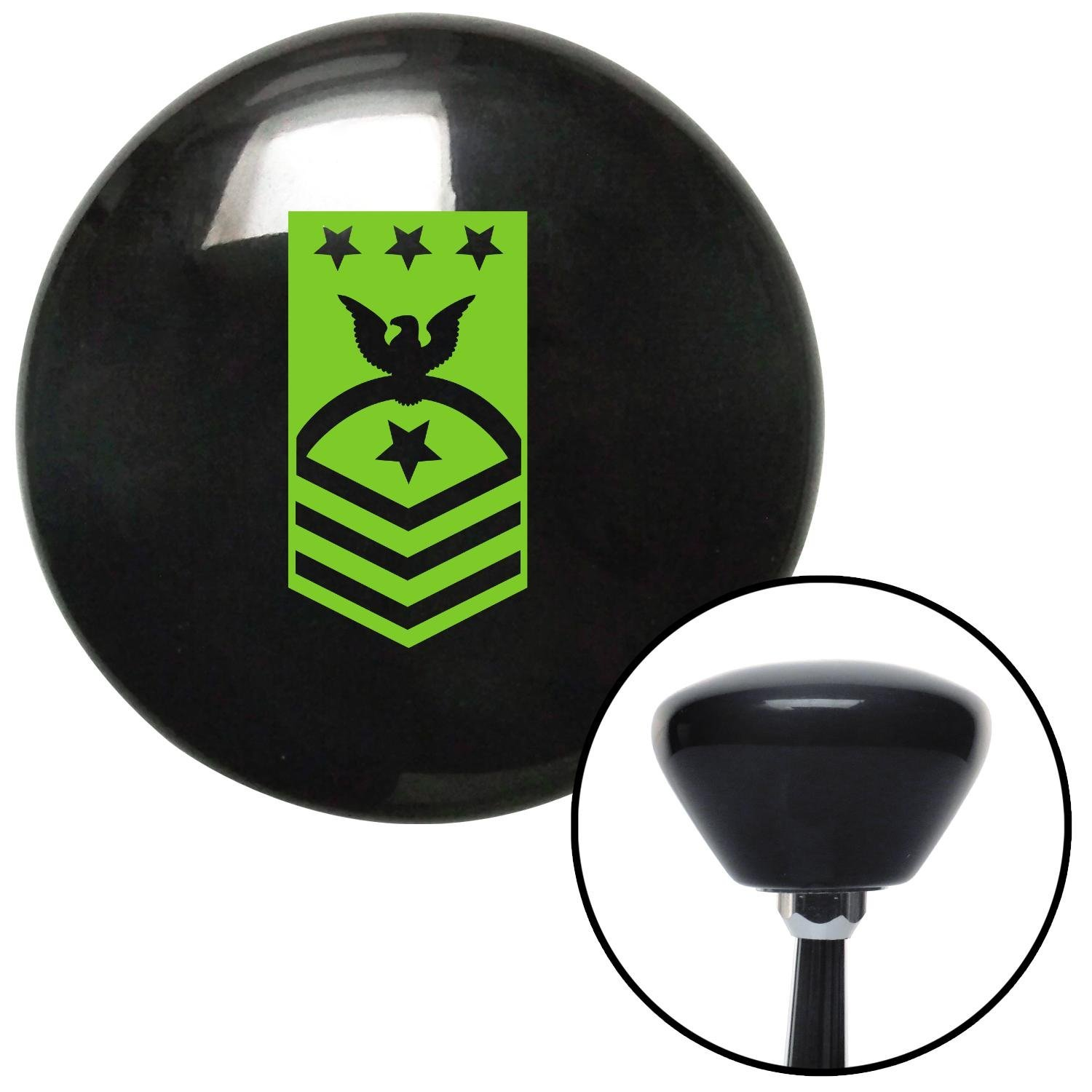 Green Master Chief Petty Officer of The Coast Guard American Shifter 146623 Black Retro Shift Knob with M16 x 1.5 Insert