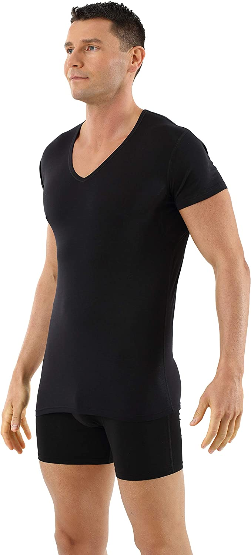 Anti-Transpiration Tee-Shirt Grand col v Noir Albert Kreuz Maillot de Corps Laine m/érinos sans mulesing