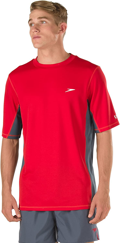 Speedo Mens Uv Swim Shirt Short Sleeve Longview Tee - Manufacturer Discontinued