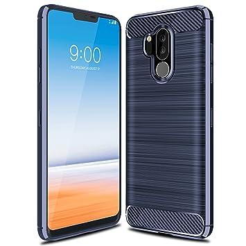 LG G7 ThinQ Funda, iBetter anti-rasca la Carcasa alta calidad TPU de la imitación ninguna Case del teléfono móvil caja del teléfono Cover para LG G7 ...