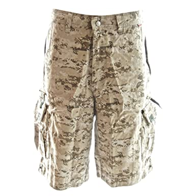 0e094f2eab Molecule Men's Regular Fit Beach Bumpers Camo Cargo Shorts with Tactical  Pockets | UK 31""