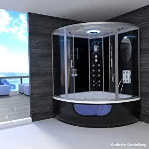 troni técnica Vapor ducha montado ducha Vapor Sauna Whirlpool Bañera Completo ducha cabina de ducha Ducha 150 x 150: Amazon.es: Hogar