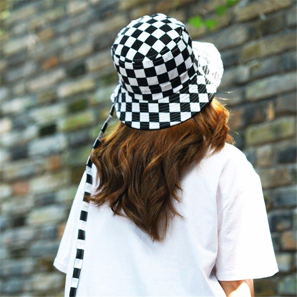 Vintage donne cappello Fashion Fisherman Hat incantevole Floppy Hat benna calda Hat,nero + bianco