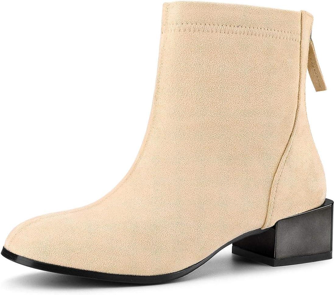 black booties tan heel