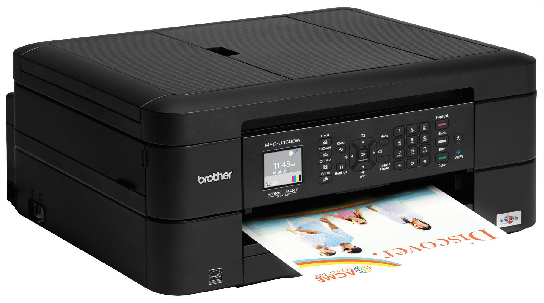 Brother Printer MFCJ460DW Wireless Color Inkjet Printer with Scanner, Copier & Fax, Amazon Dash Replenishment Enabled by Brother